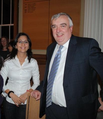 UCD Smurfit MBA student Amneet Kaur with Prof. Pat Gibbons