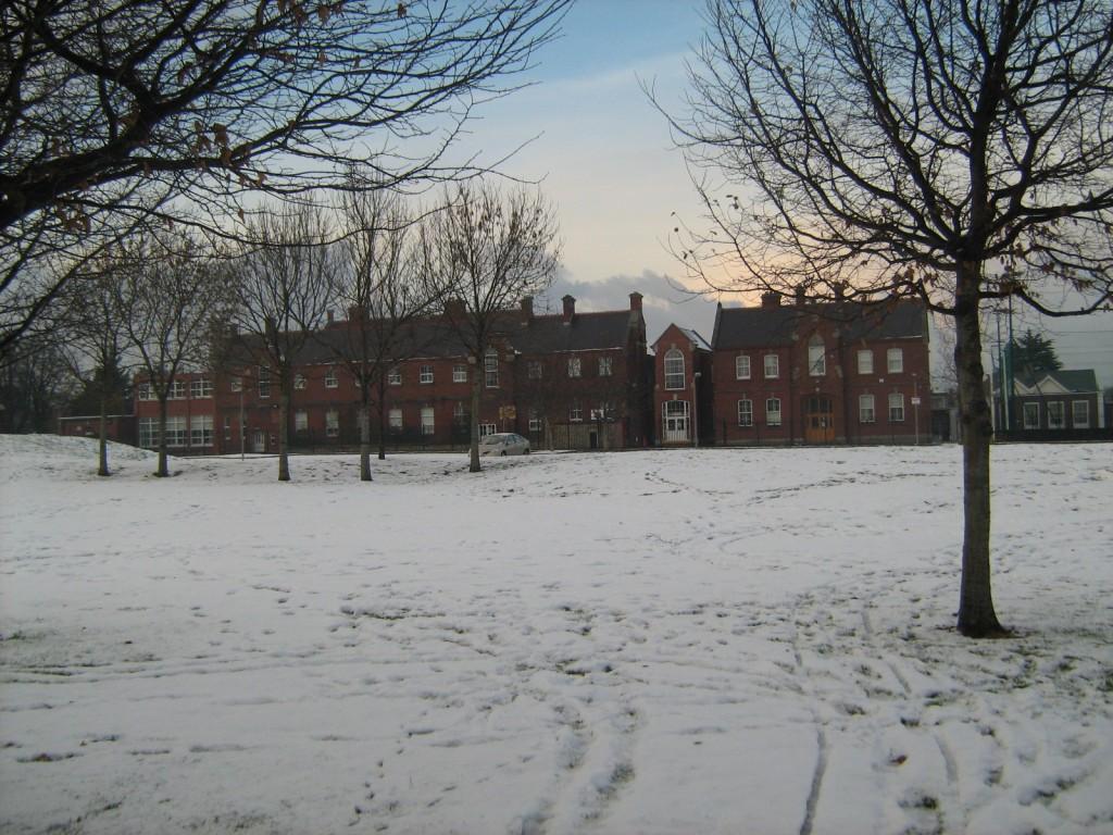 Winter on UCD Smurfit School campus