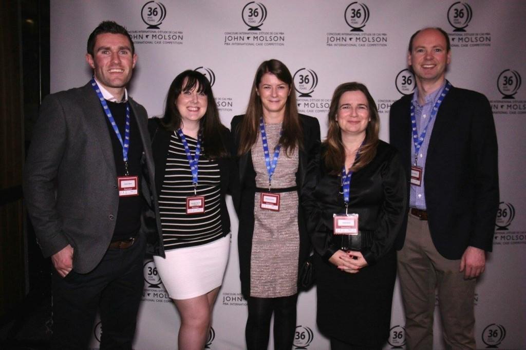 UCD Smurfit Molson Team - L-R: Declan Walsh, Anne Marie Barcoe, Catherine O'Brien, Tanya Kenny, Derek Anderson