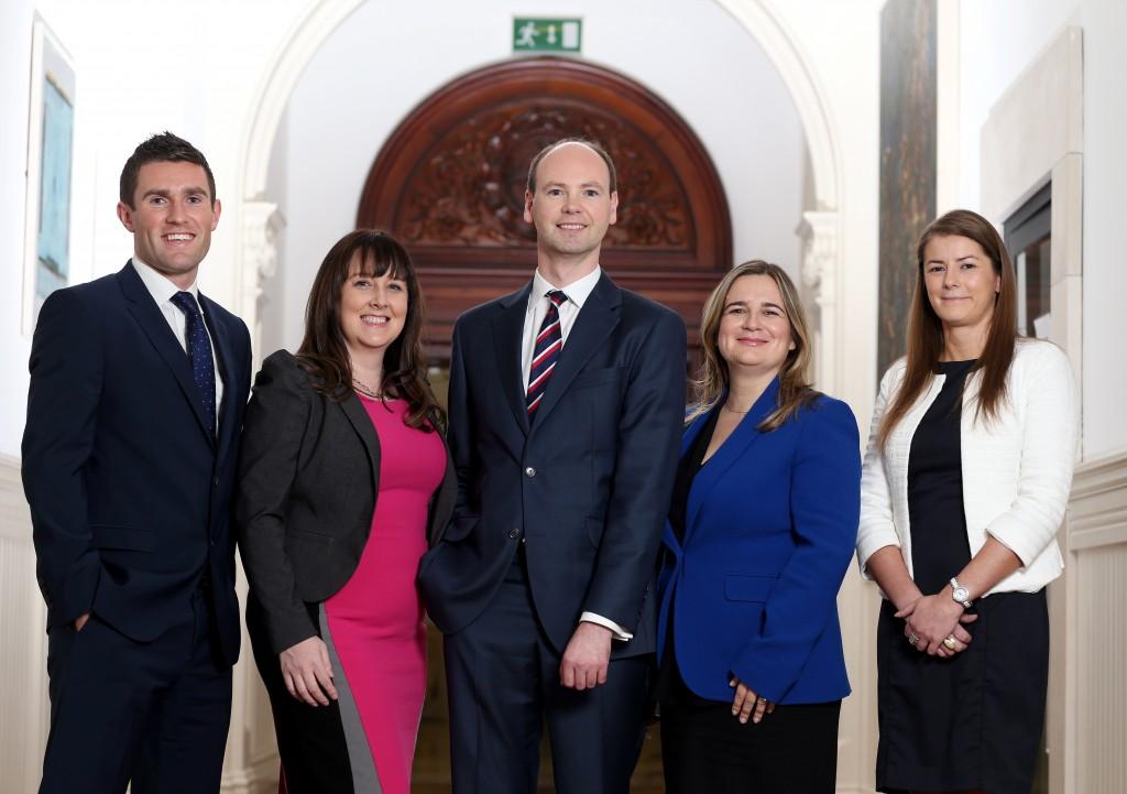 The UCD Smurfit Molson Team. L-R: Declan Walsh, Anne Marie Barcoe, Derek Anderson, Tanya Kenny, Catherine O'Brien. Picture Jason Clarke.